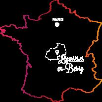 Carte Lignières en Berry