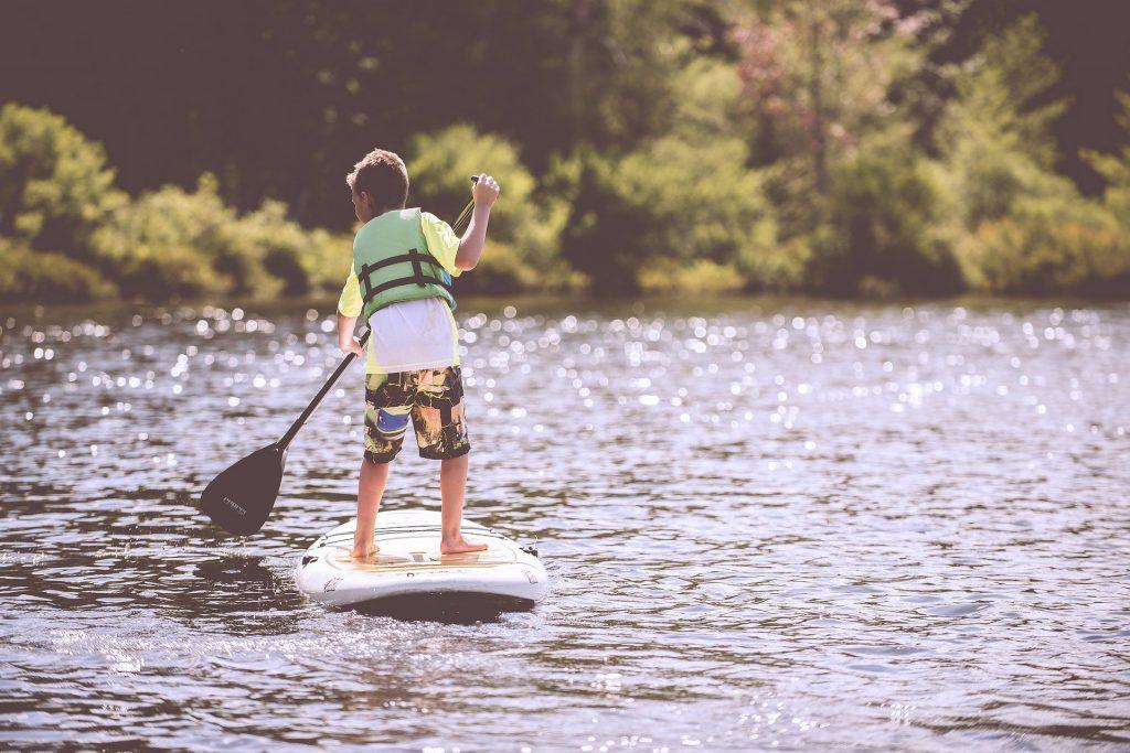 standuo paddle – enfant – planche – puce